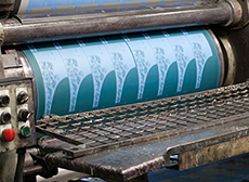 オフセット印刷画像